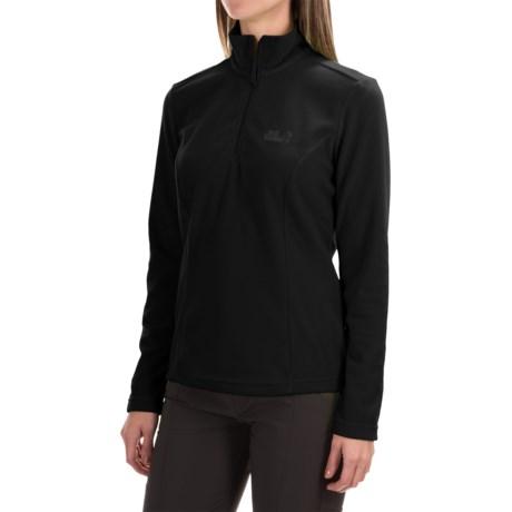 Jack Wolfskin Gecko Fleece Jacket - Zip Neck  (For Women)