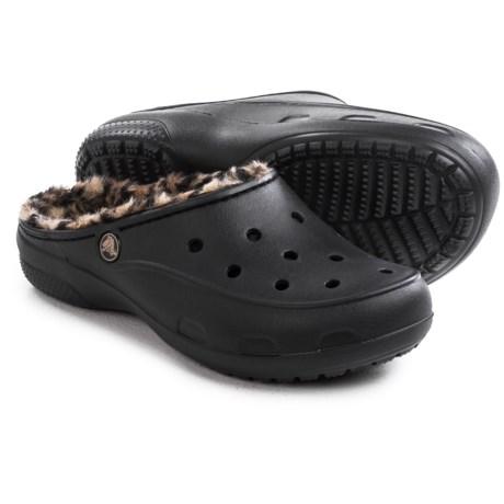 Crocs Freesail Leopard Lined Clogs (For Women)