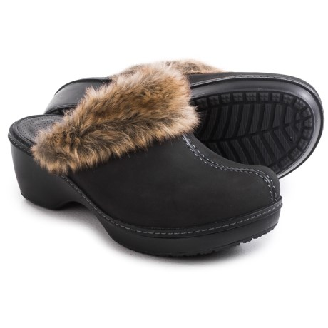 Crocs Cobbler Fuzz Clogs (For Women)