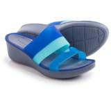 Crocs Color-Block Mini Wedge Sandals (For Women)