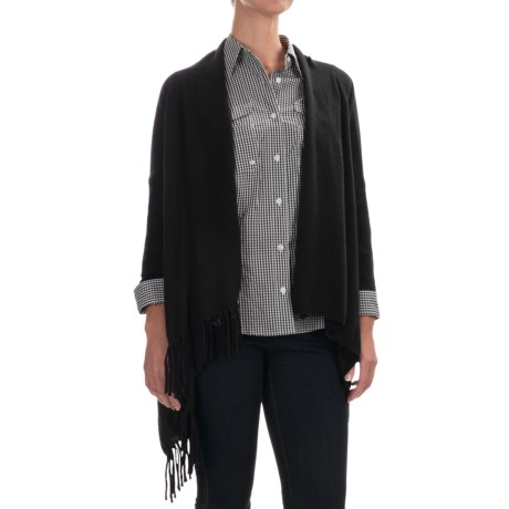 In Cashmere Fringed Cashmere Cardigan Sweater (For Women)