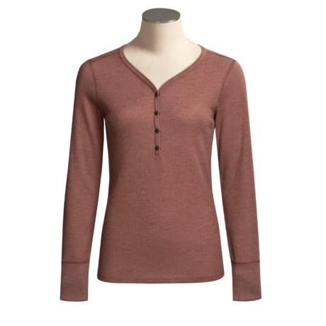 ExOfficio High-Performance Waffle Henley Shirt -  Long Sleeve (For Women)