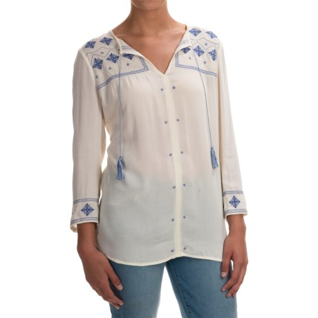 NYDJ Embroidered Tunic Blouse - 3/4 Sleeve (For Women)