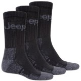 Jeep Signature Boot Socks - 3-Pack, Crew (For Men)