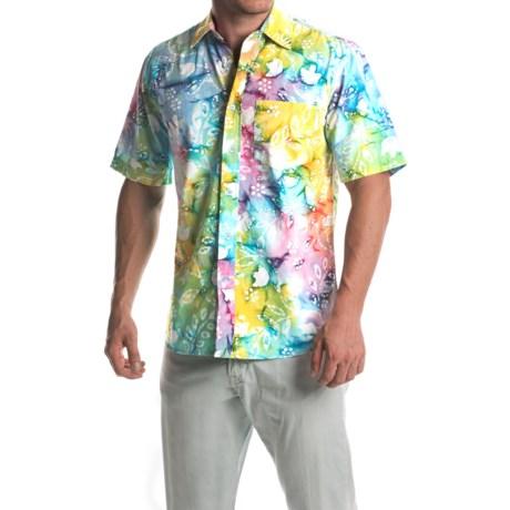 Vintage 1946 Batik-Print Shirt - Button Front, Short Sleeve (For Men)