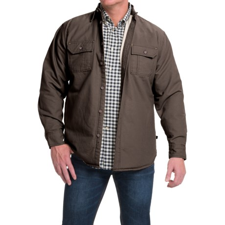 Moose Creek Canvas Shirt Jacket - Fleece Lined (For Men)