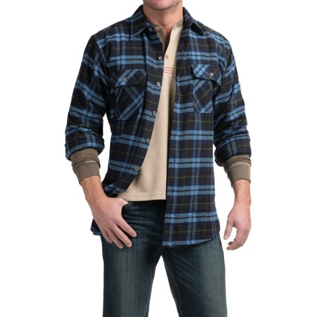 Moose Creek Brawny Plaid Flannel Shirt - Long Sleeve (For Tall Men)