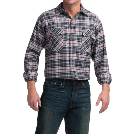 Moose Creek Brawny Plaid Flannel Shirt - Long Sleeve (For Tall Men)