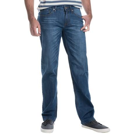Five-Pocket Stretch Denim Jeans - Straight Leg (For Men)