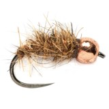 Fulling Mill Hares Ear Barbless Tungsten Beadhead Nymph Fly - Dozen