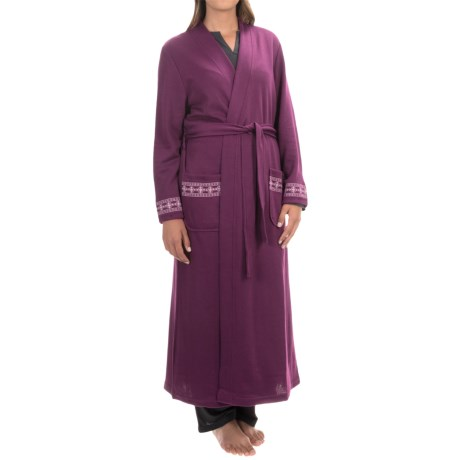 KayAnna Brushed Double Knit Wrap Robe - Long Sleeve (For Women)