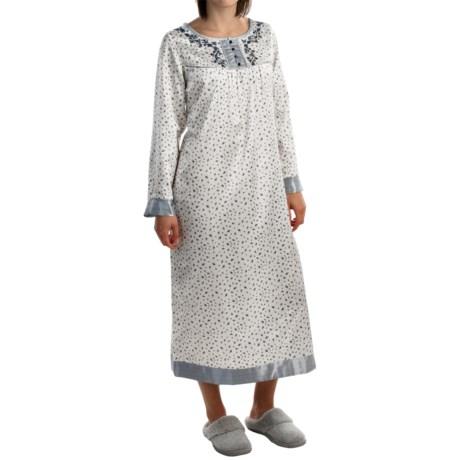 KayAnna Satin Nightshirt - Long Sleeve (For Women)