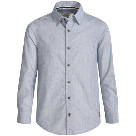 Weatherproof Dobby Shirt - Button Front, Long Sleeve (For Big Boys)