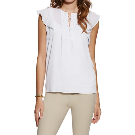 Ariat Marlow Tie-Front Blouse - Short Sleeve (For Women)