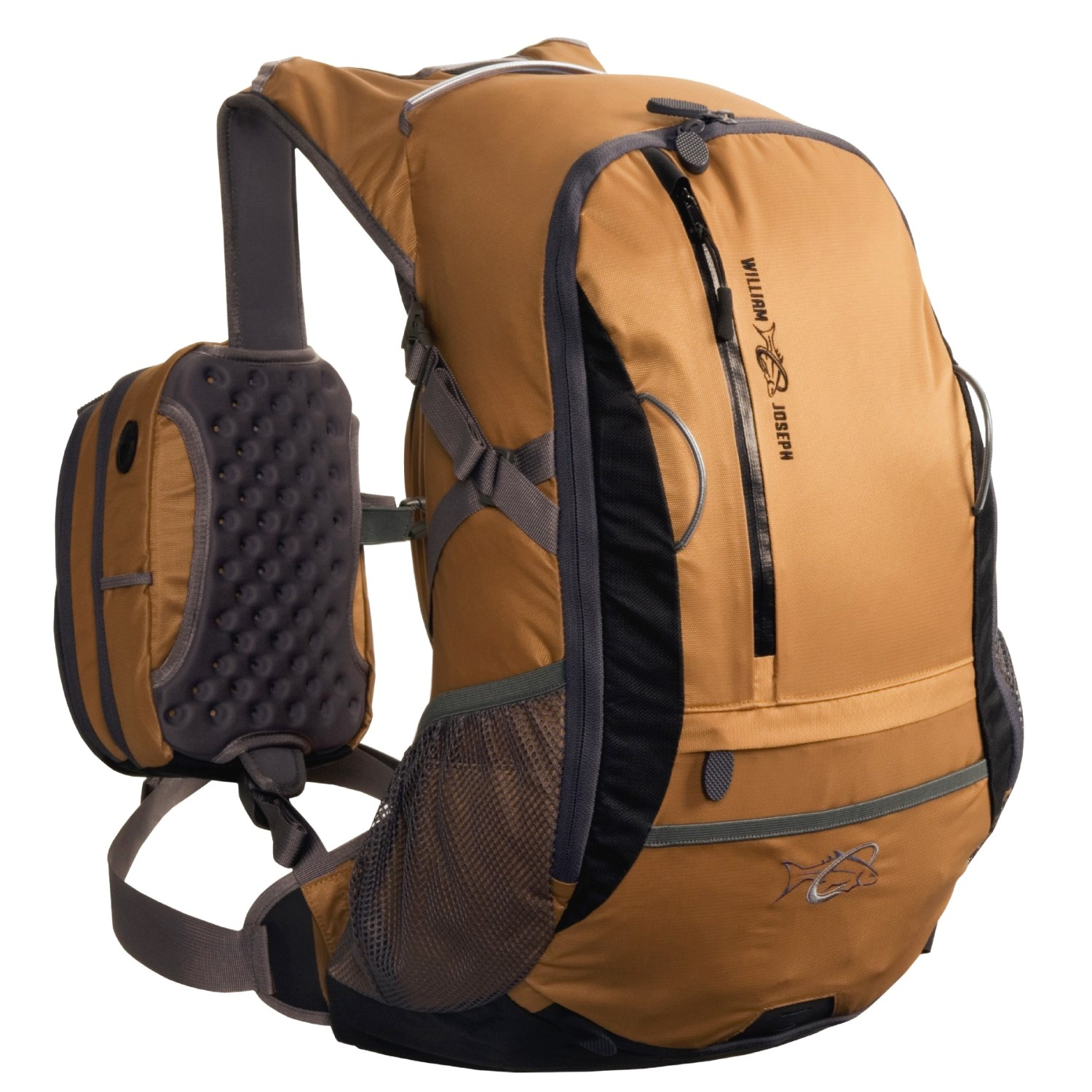 William joseph escape fly fishing backpack with dual chest for Fly fishing backpack