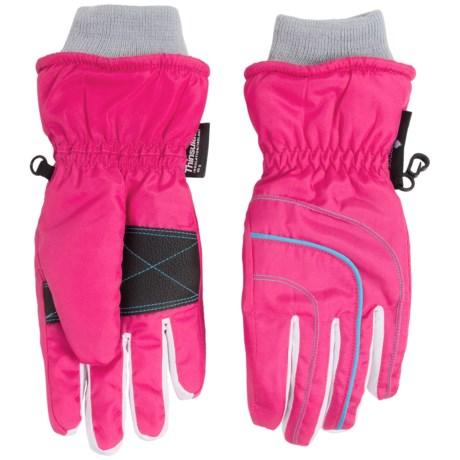 Grand Sierra Thinsulate® Ski Gloves - Waterproof, Insulated (For Little Girls)