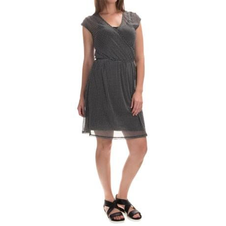 Chiffon Layered Dress - Fully Lined, Short Sleeve (For Women)