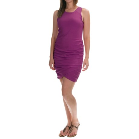 Pima Cotton-Modal Ruched Tank Dress - Built-In Bra (For Women)