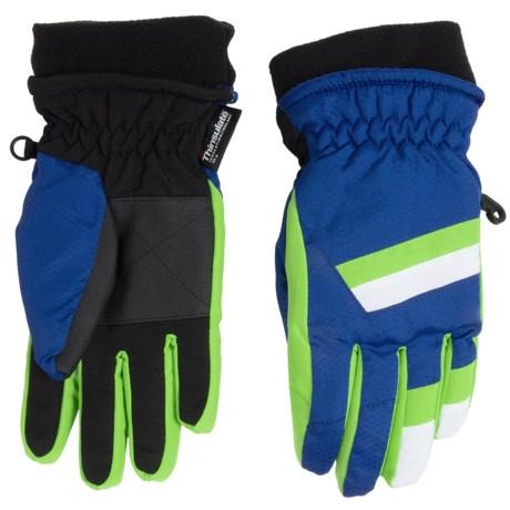 Grand Sierra Honeycomb & Tusser Thinsulate® Ski Gloves (For Little Boys)