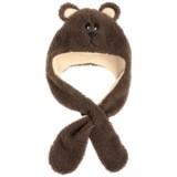 Grand Sierra Sherpa Fleece Animal Hat - Ear Flaps, Fleece Lined (For Toddlers)