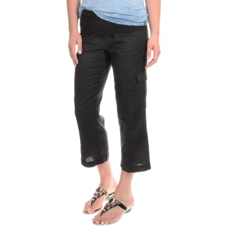 MSP by Miraclesuit Cargo Pocket Capris - Linen-Cotton (For Women)