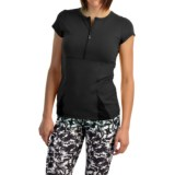 MSP by Miraclesuit Crew Neck Shirt - Zip Neck, Short Sleeve (For Women)