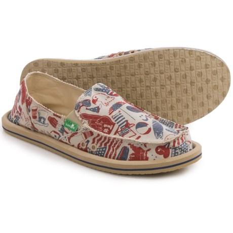 Sanuk Donna Patriot Shoes - Slip-Ons (For Women)