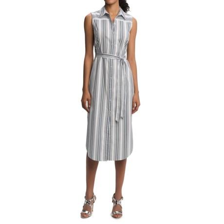 Foxcroft Striped Shirtdress - Sleeveless (For Women)