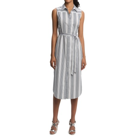 Foxcroft Striped Shirtdress - Sleeveless (For Women)