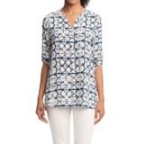 Foxcroft Batik Print Tunic Shirt - 3/4 Sleeve (For Women)