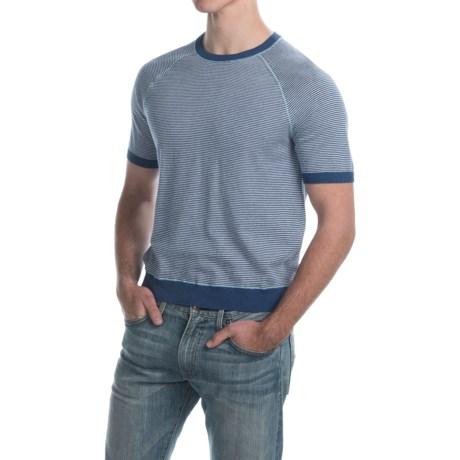 C89men Mini Stripe Shirt - Cotton, Short Sleeve (For Men)