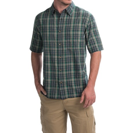 Woolrich Overlook Dobby Plaid Shirt - Short Sleeve (For Men)