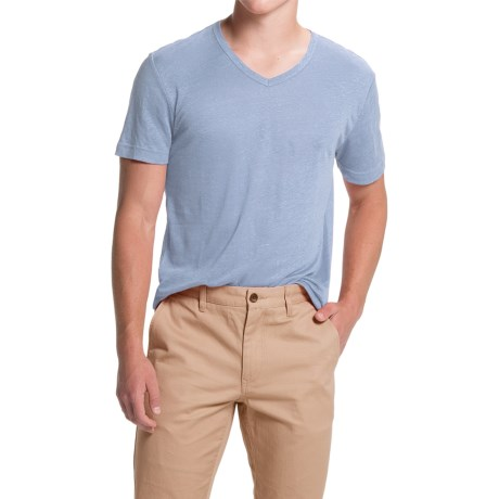 Slate & Stone Stuart Linen V-Neck T-Shirt - Short Sleeve (For Men)