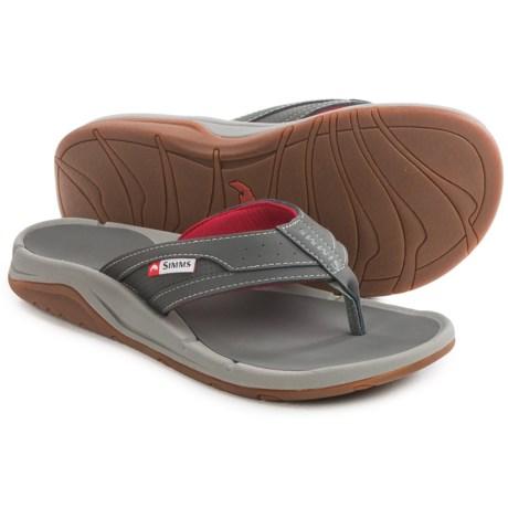 Simms Strip Flip-Flops - Vegan Leather (For Men and Women)