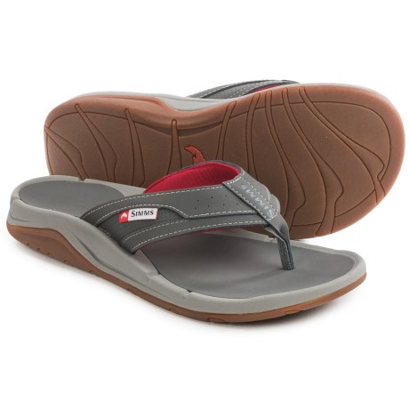Simms Strip Flip-Flops - Vegan Leather (For Men and Women)