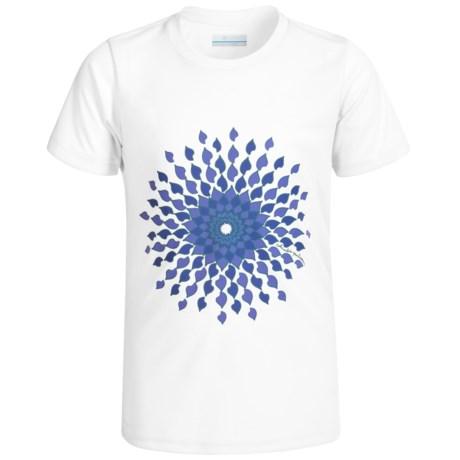Columbia Sportswear Sunny Burst Omni-Wick® Shirt - UPF 50, Short Sleeve (For Little and Big Girls)
