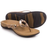 Vionic with Orthaheel Technology Karina Flip-Flops - Leather (For Women)