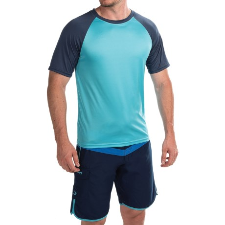Teal Cove Raglan Rash Guard - UPF 20+, Short Sleeve (For Men)