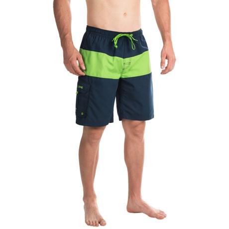 Teal Cove Evan Swim Trunks - Cargo Pocket (For Men)