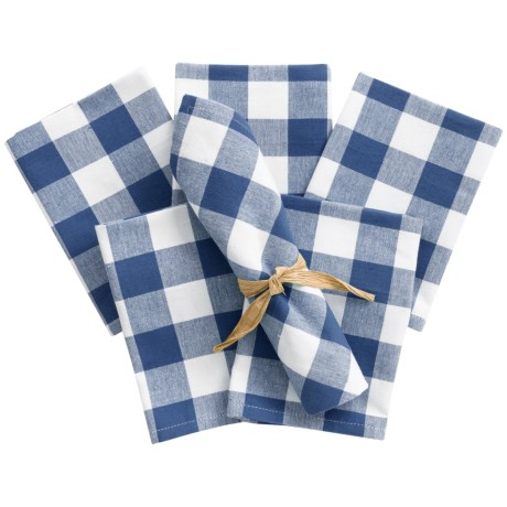 Now Designs Picnic Check Cloth Napkins - Set of 6