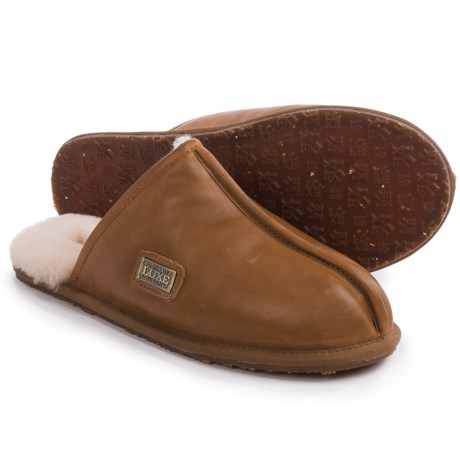 Australia Luxe Collective Closed Mule Slippers - Leather, Shearling Lined (For Men)