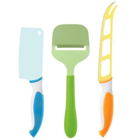 OGGI Colorful Cheese Knife and Slicer Set - 3-Piece