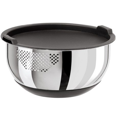 OGGI Strainer Bowl with Lid - 5 qt., Stainless Steel