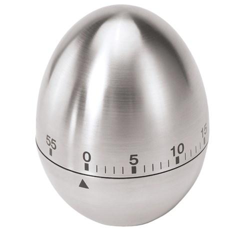 OGGI Egg Kitchen Timer - Stainless Steel, 60 Minute