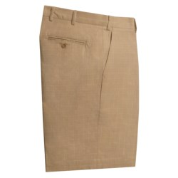 Scott Barber Cotton Twill Bermuda Shorts - Flat Front (For Men)
