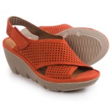Clarks Clarene Award Wedge Sandals - Nubuck (For Women)