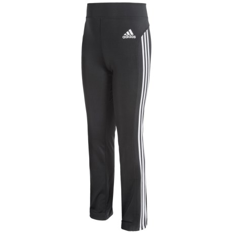 adidas Yoga Pants with White Stripes (For Big Girls)