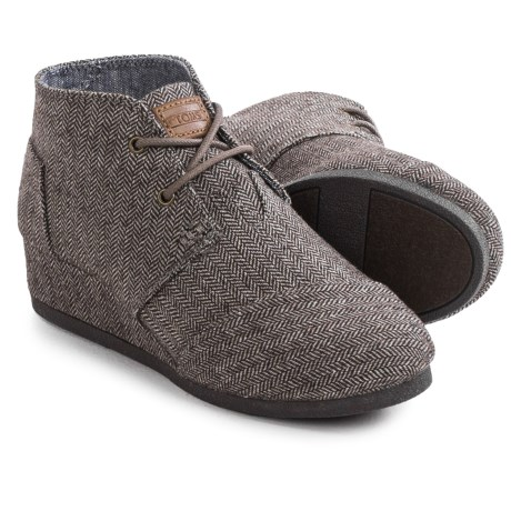 TOMS Desert Wedge Boots (For Big Girls)