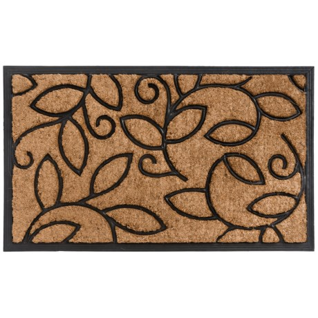 Home and More Vine Leaves Doormat - Coir and Rubber, 18x30""