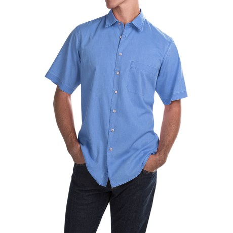 Scott Barber Charles Bedford Corded Shirt - Button Front, Short Sleeve (For Men)